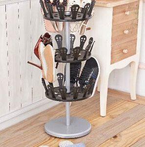 מתקן מסתובב לאחסון עד 18 זוגות נעלים