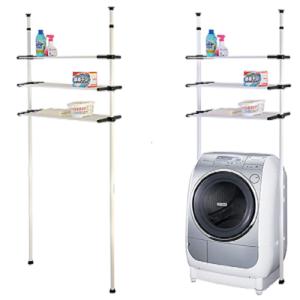 סט מדפים מודולרי לאחסון מעל מכונת כביסה או שירותים